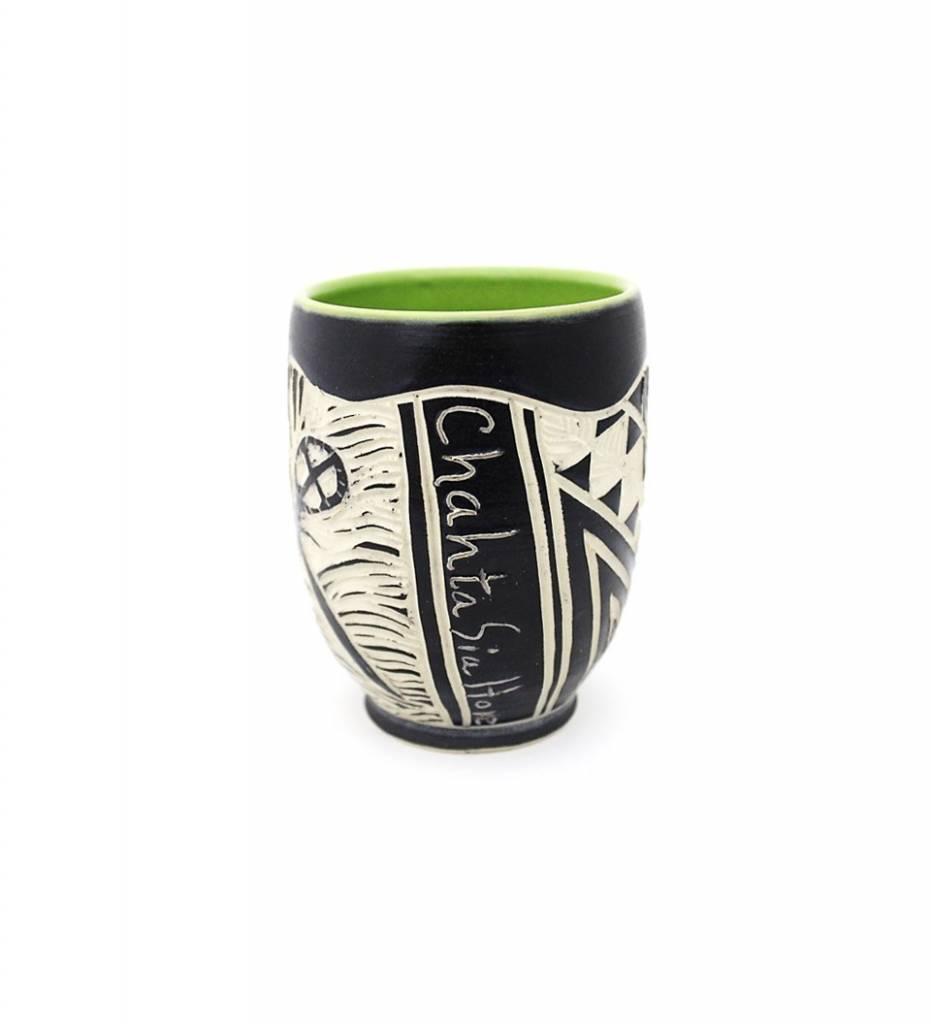 "*CBY ""Stickball"" Coffee Mug GREEN"