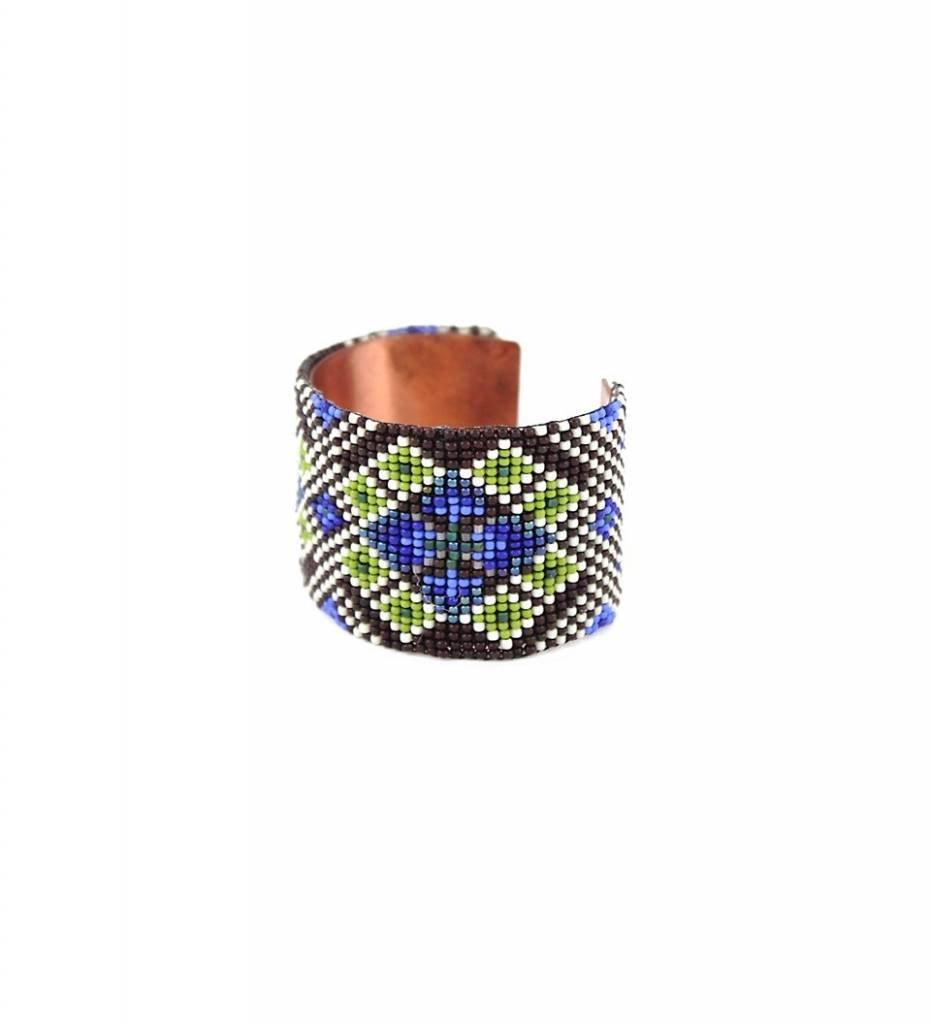 "*RS ""Beaded Cuff Bracelet"" LARGE"