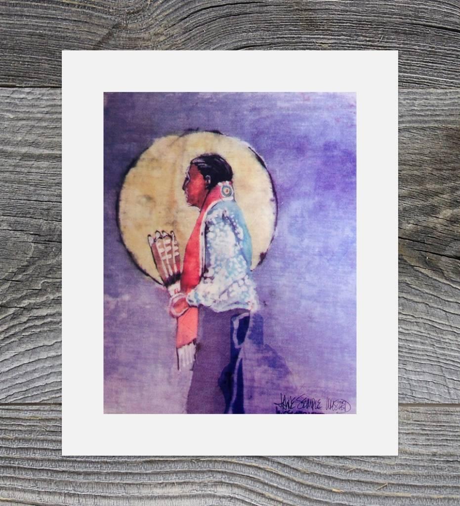 "*JU ""Choctaw Gourd Dancer"" 12 X 14 Matted Print"