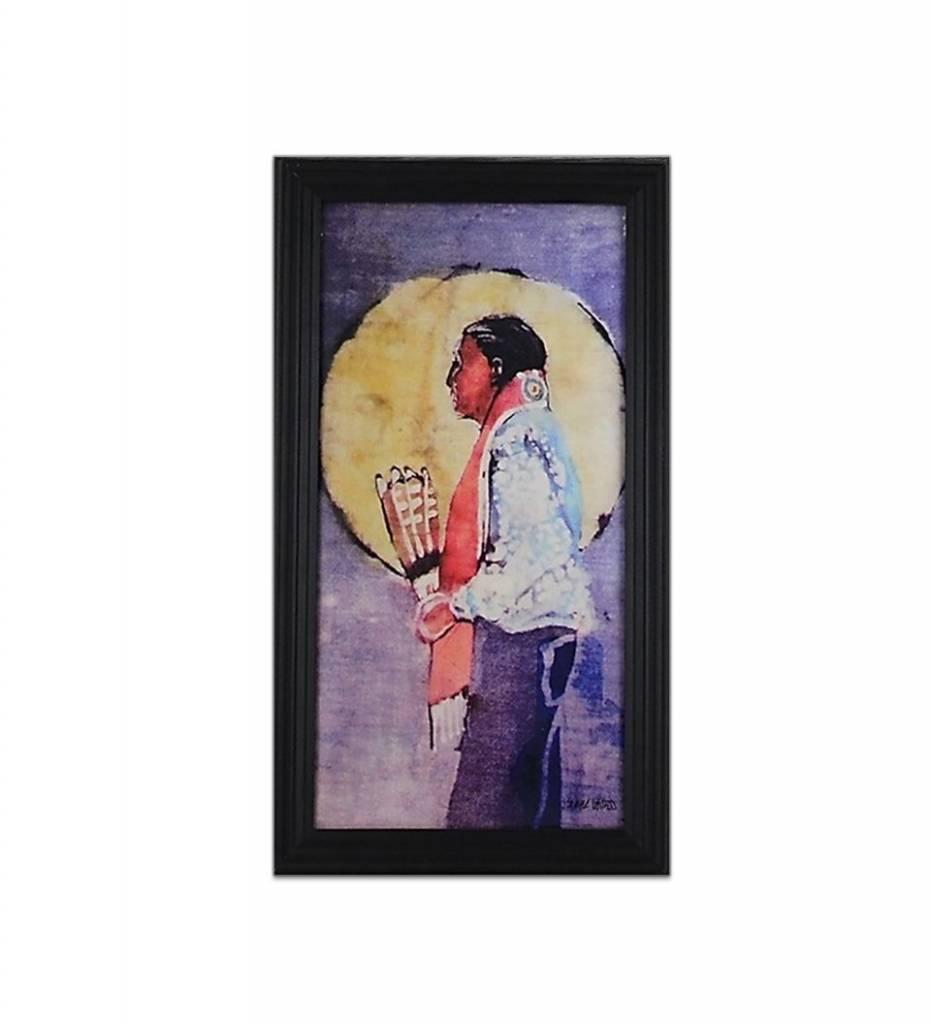 "*JU ""Choctaw Gourd Dancer"" Giclee with Black Wood Frame"