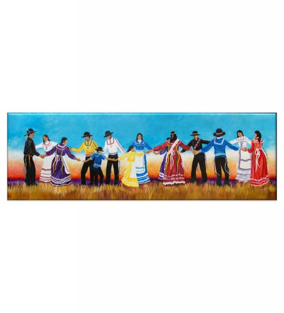 "*JU ""Choctaw Raccoon Dance""  11 X 28  Giclee"