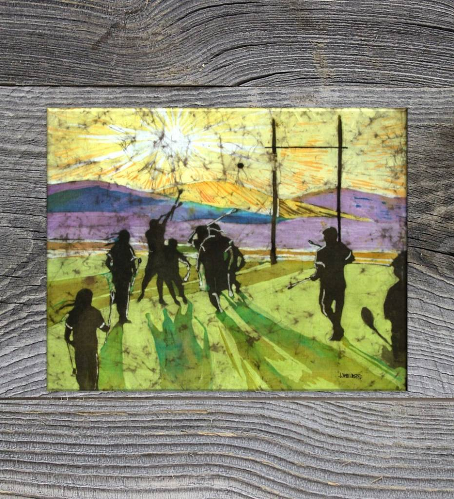 "*JU ""Choctaw Stickball, Winning Point"" 20 X 26 Stretched Giclee Print on Canvas"