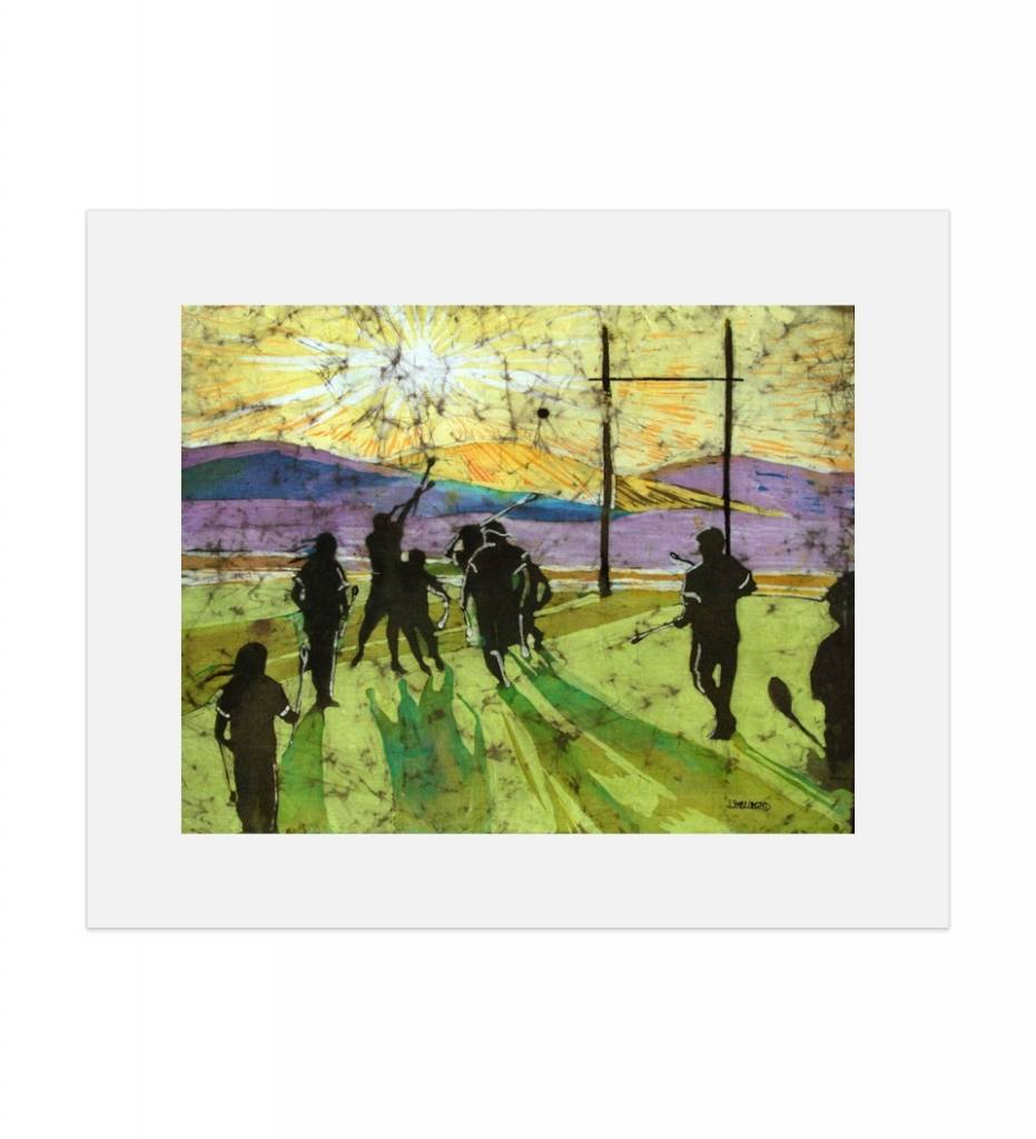 "*JU ""Choctaw Stickball, Winning Point"" Matted Print"