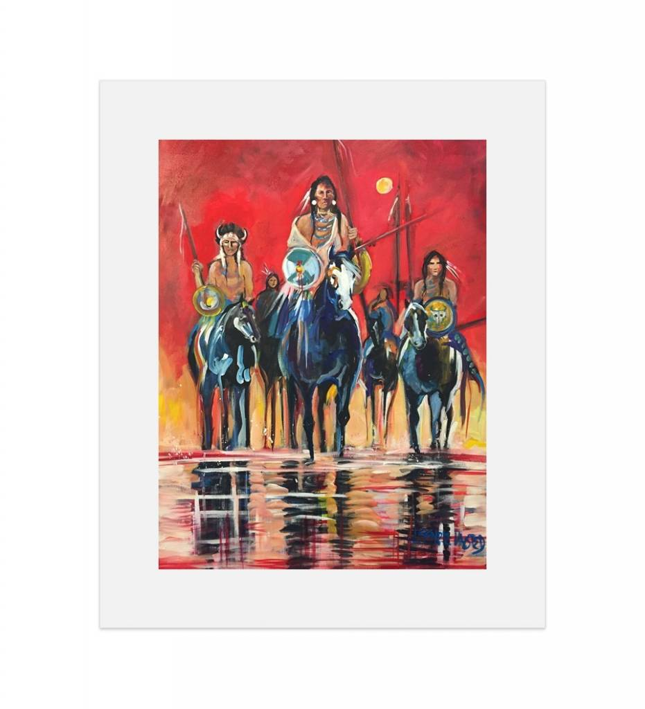"*JU ""Crossing the Red"" 14 X 18 Matted Print"