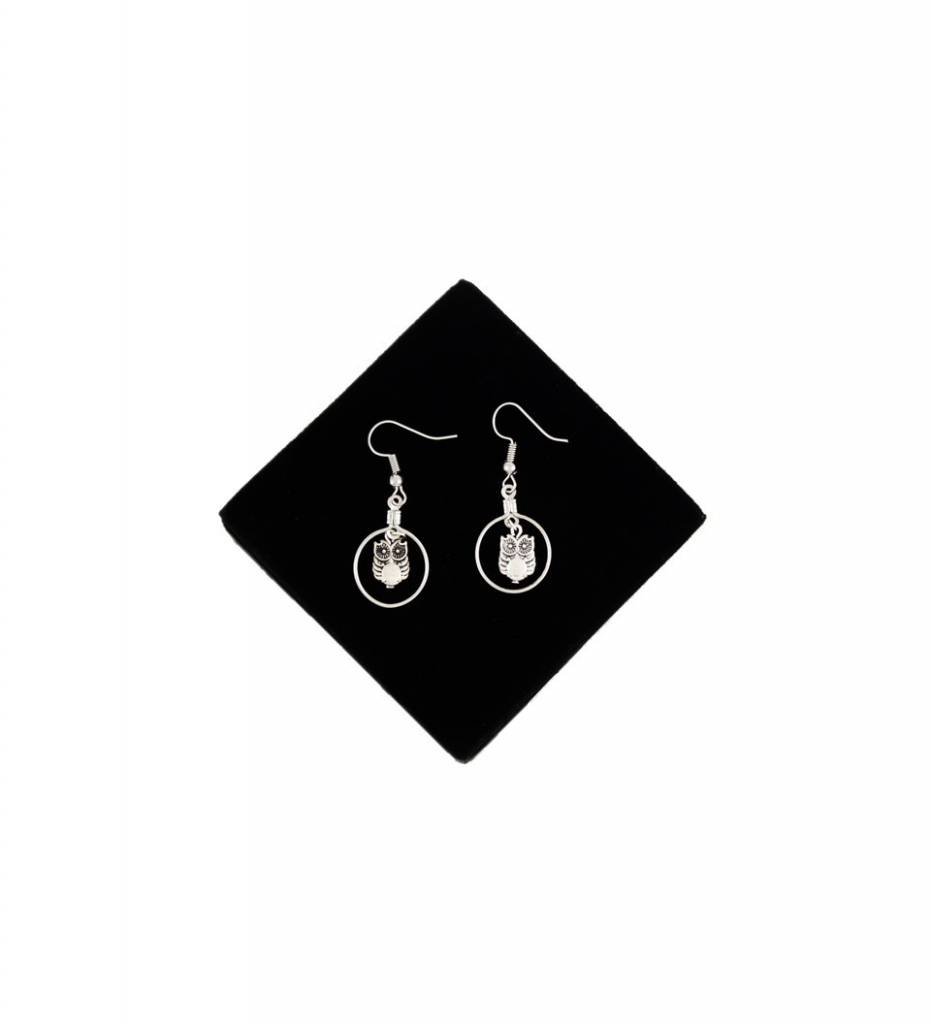 *BG Silver Owl Looped EARRINGS