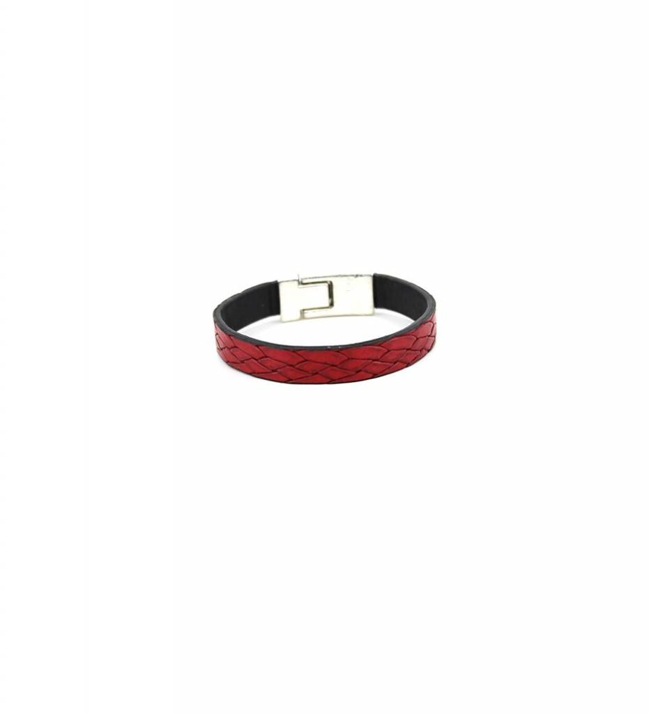 *JM Burgundy Flat Leather Medium BRACELET