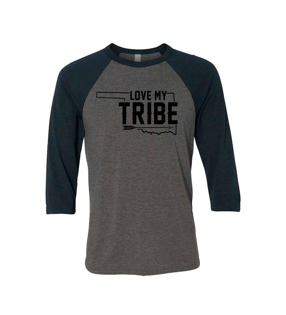 """LOVE MY TRIBE"" Baseball Tee"