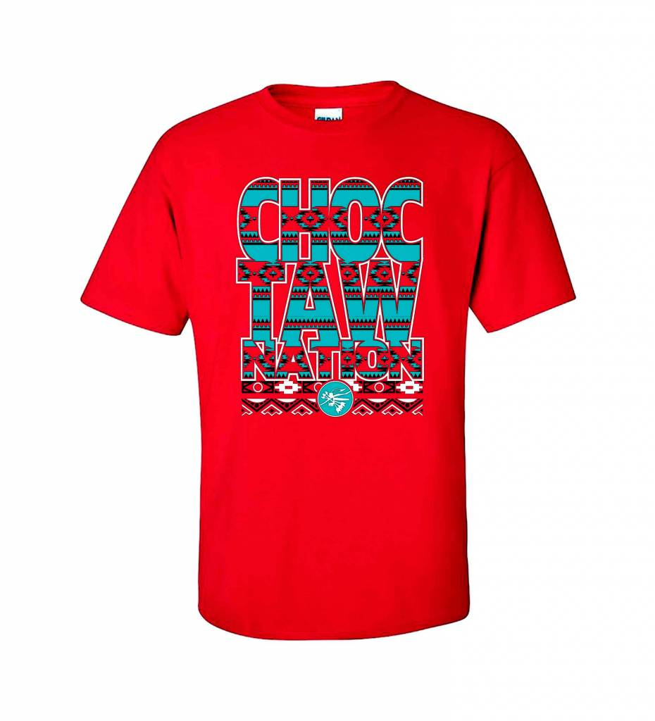 """CHOCTAW NATION"" Blocked Tees"