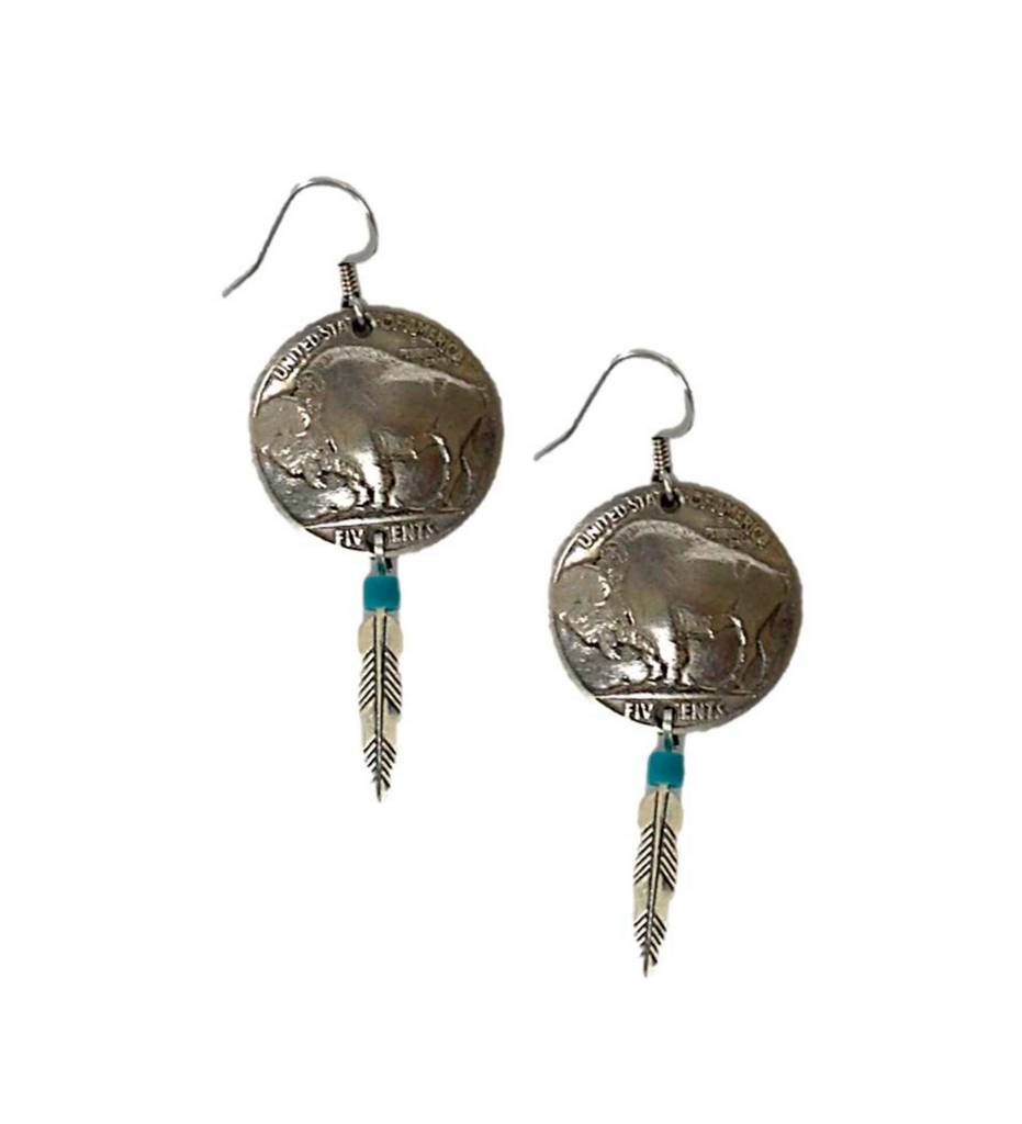 """DP """"Buffalo Nickel"""" Earrings"""