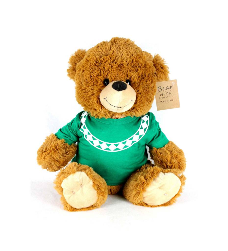 19 Inch Bear with Traditional Shirt