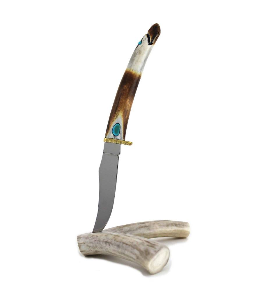 PH Small Eagle Design Knife with Blue Turquoise Eyes