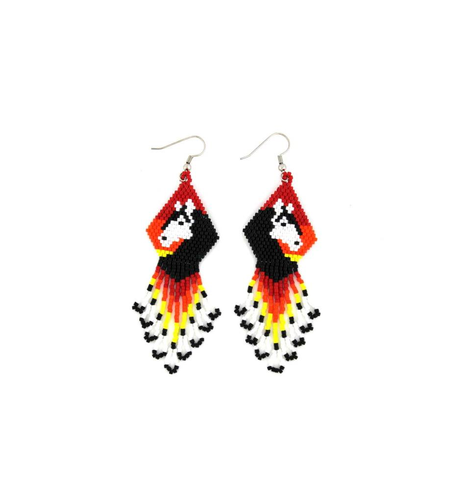 *TMC Assorted Color Beaded Horse Design EARRINGS