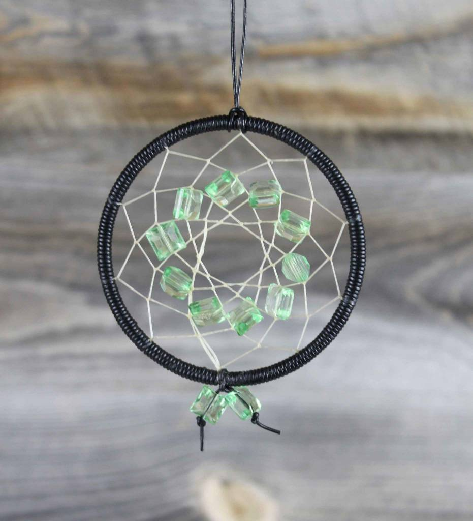 "*BD 3"" Black Vinyl with Green Stones DREAMCATCHER"