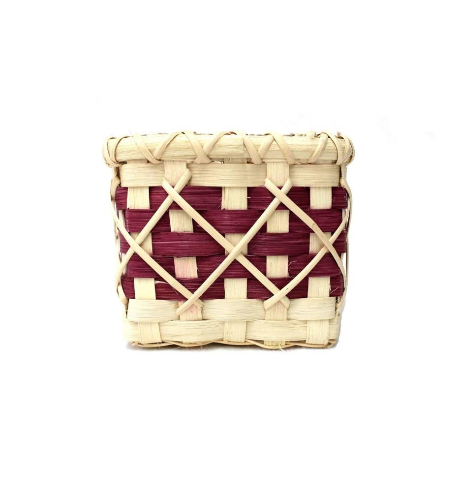 *LA Maroon Tissue Basket #4101