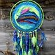 """*JC Hand Felted Abstract Multi Colored 10"""" DREAMCATCHER"""
