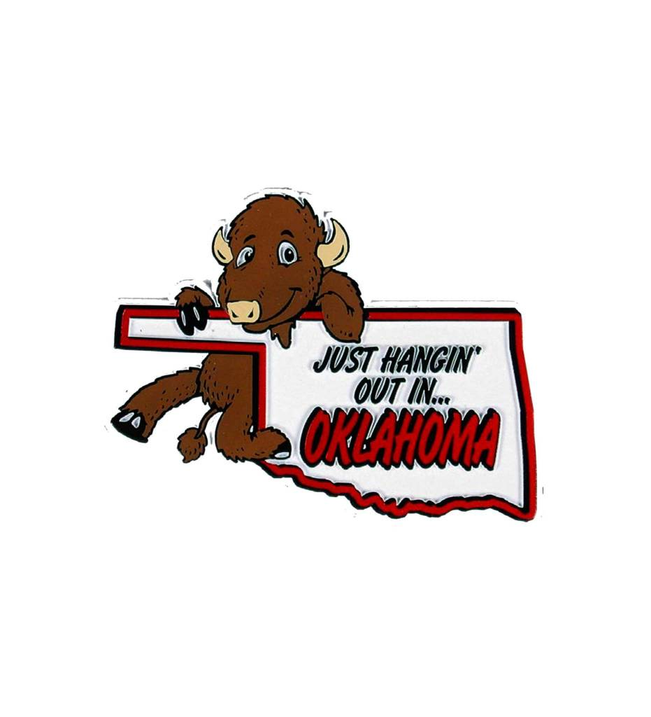 OKLAHOMA JUST HANGING OUT MAP MAGNET