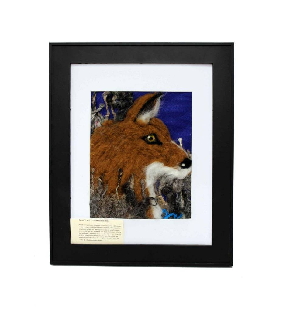 *JC Hand  Needle Felt Fox Wall Hanging