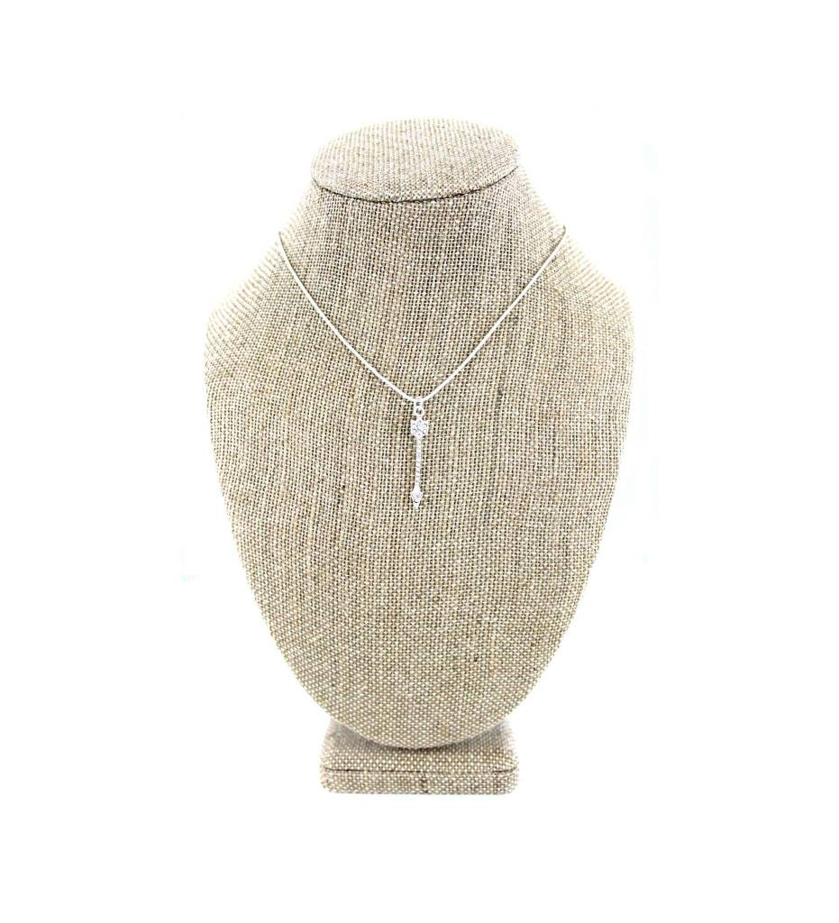 *JM Sterling Silver Necklace with Arrow Pendant