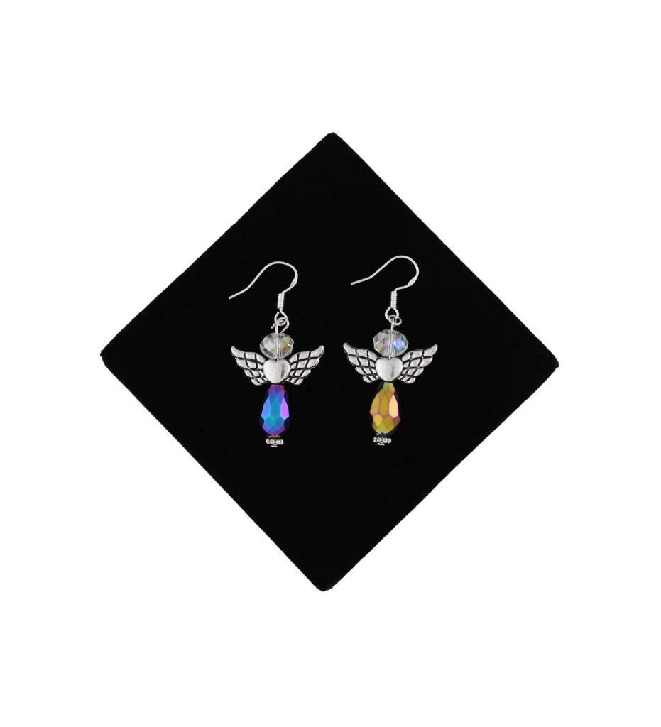 *BG Angel Designed Bead Hook Earrings