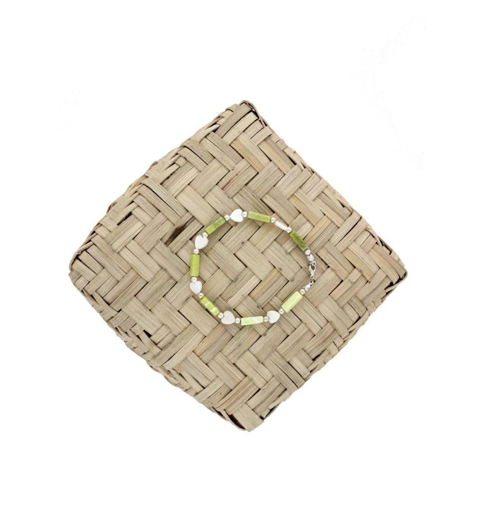 *BG Yellow & White Beads Bracelet