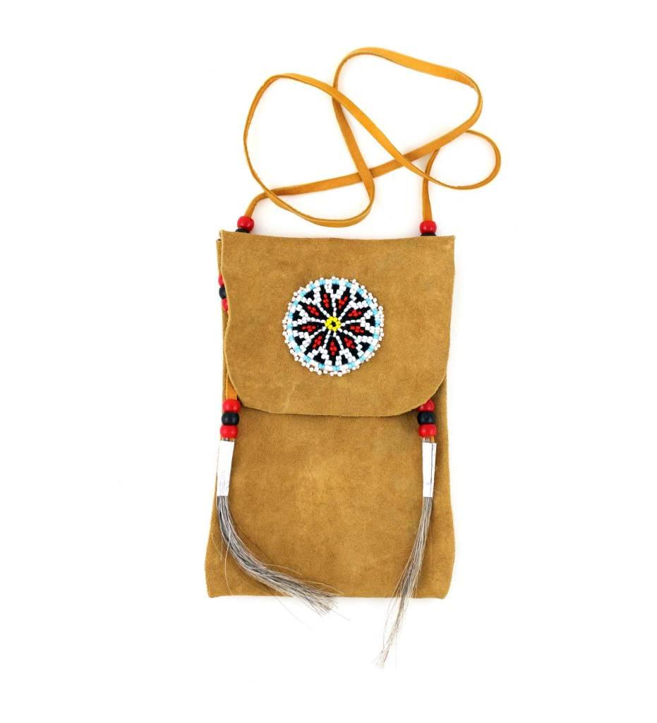 *DB Beaded Medallion Medicine Bag
