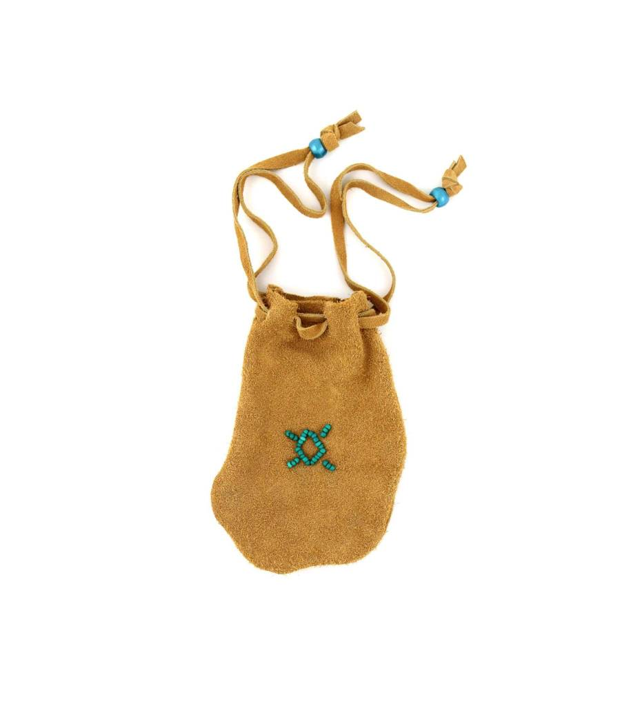 *DB Medicine Bag with Green Bead Design