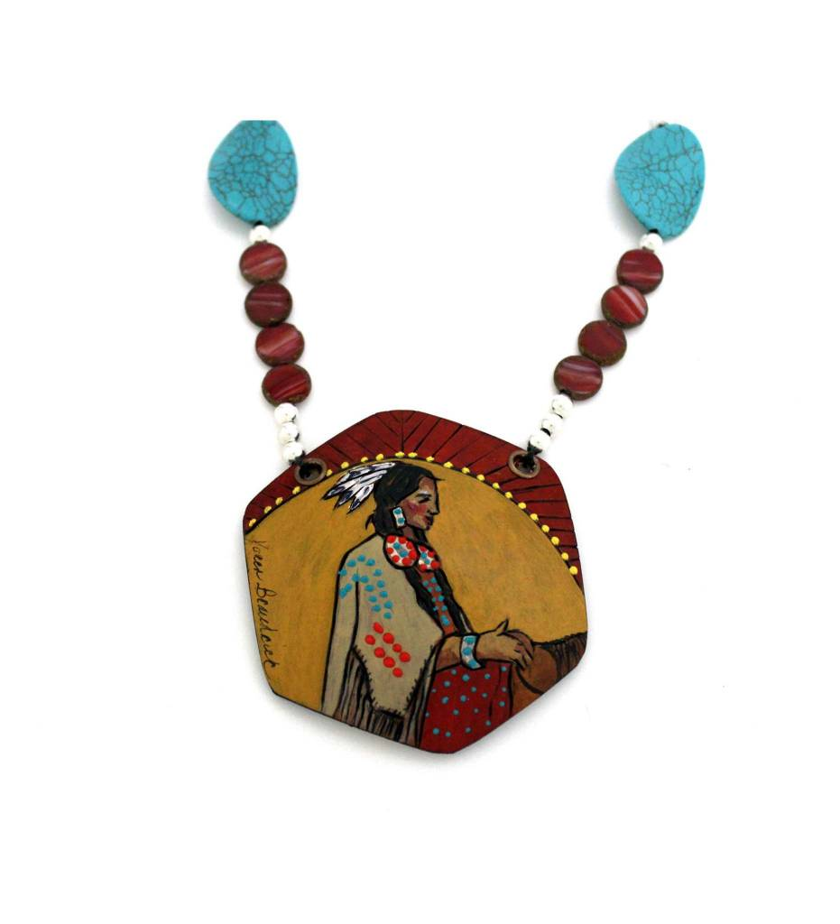 *KB Gourd Art  Native Girl Necklace