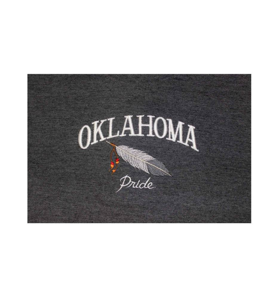 """OKLAHOMA Pride"" Embroidered T-Shirt L"