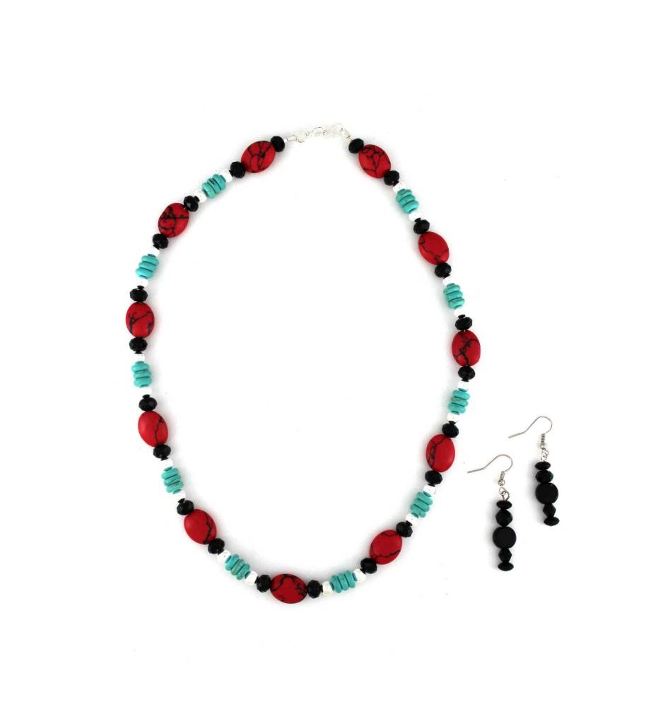 shop the product necklace beads courtauld neckless plum assorted