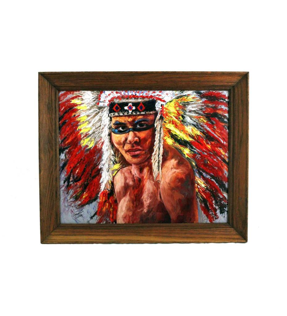 "*DS 16"" X 20"" ""Red Cloud"" PRINT In Wood Frame"