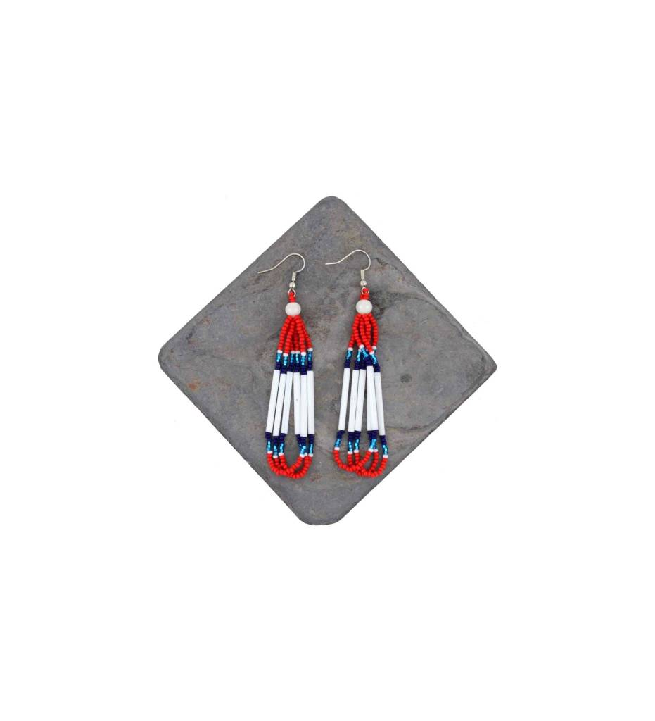 *DM Red, White and Blue Earrings