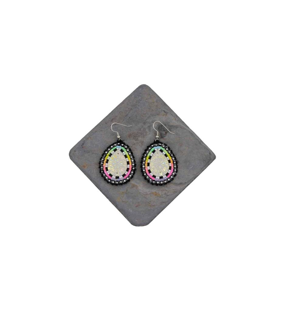 *DM Multi Colored Beaded Earrings