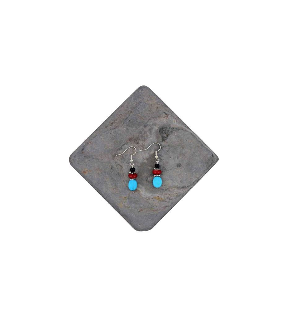 *DM Turquoise Bead Earrings