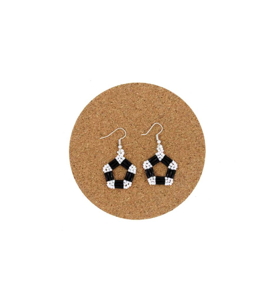 CM Assorted 5 Point Circle Beaded Earrings