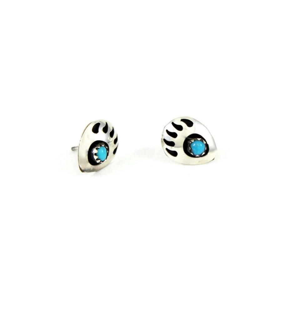 """JL Sterling Silver """"Bear Claw"""" Post Earrings"""