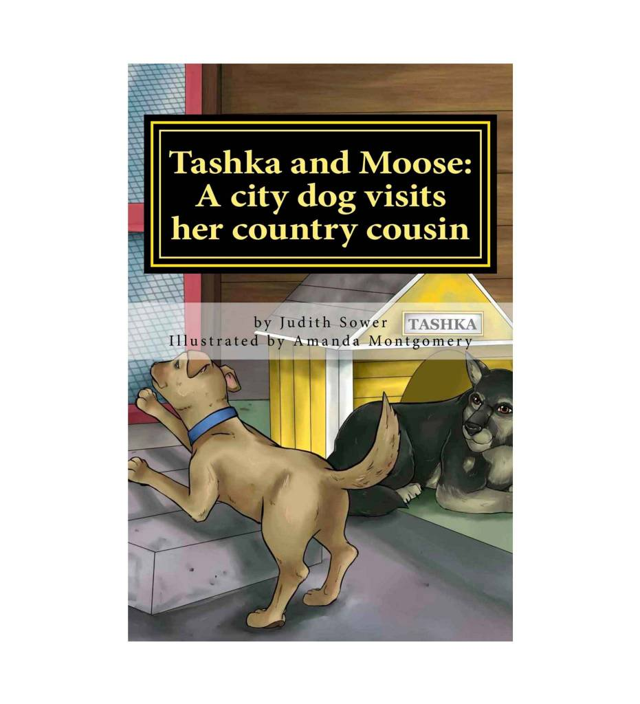 *JS Tashka and Moose: A city dog visits her country cousin