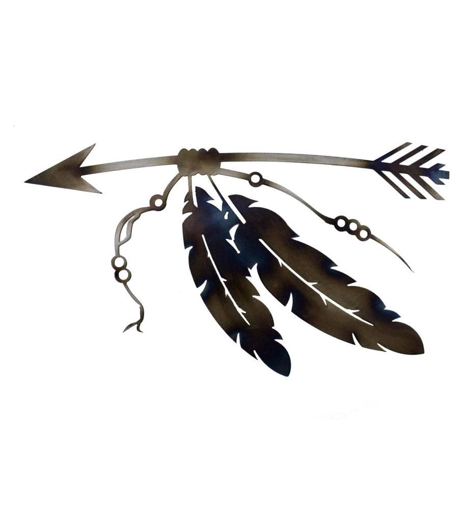 *BMW Arrow & Feathers Metal Artwork