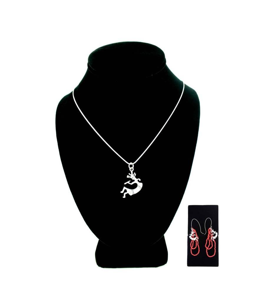 *JA Kokopelli Necklace & Earrings Set