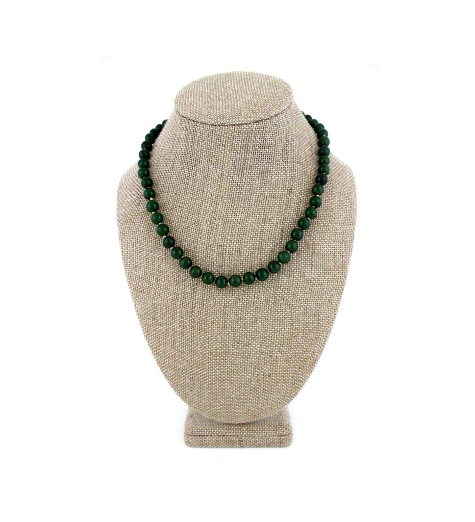 *JA Jade Bead Necklace