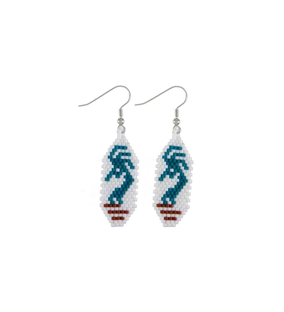 *TMC Kokopelli Beaded Earrings