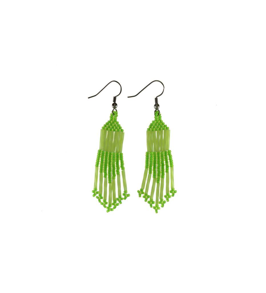 *TMC Green & Yellow Beaded Earrings