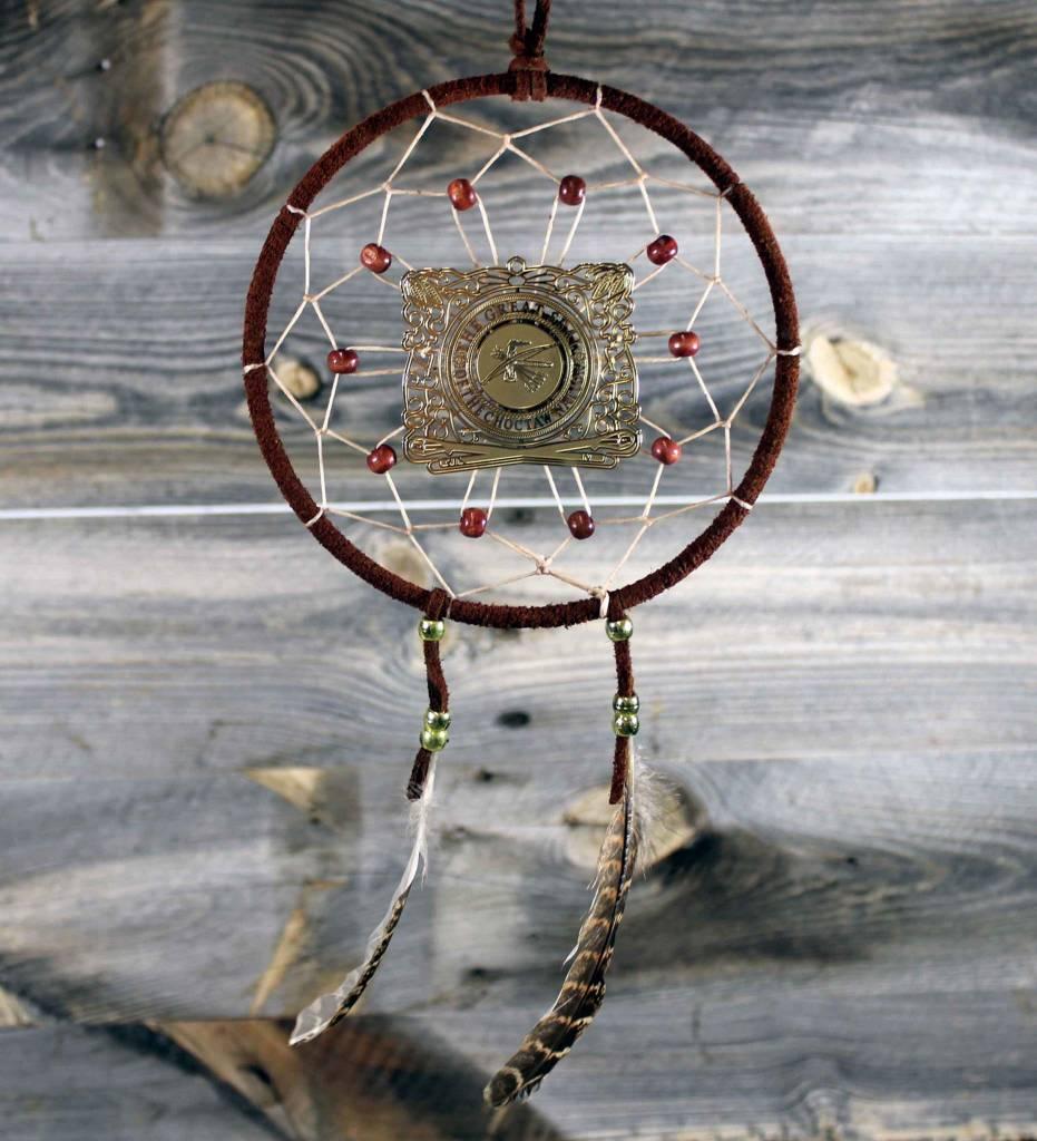 "BD 6"" Brown with Tan Web & CNO Seal Ornament Dreamcatcher"