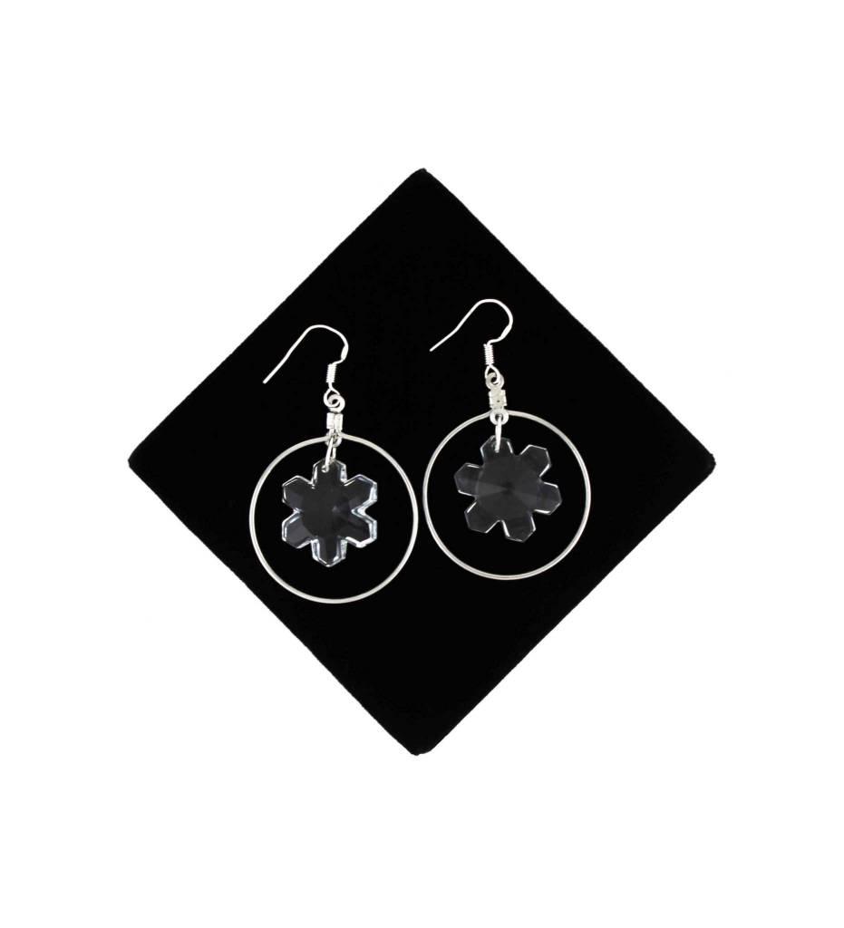*BG Sterling Silver Crystal Earrings