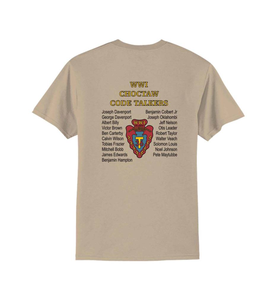 *Choctaw Code Talkers T-Shirt ADULT Desert Tan