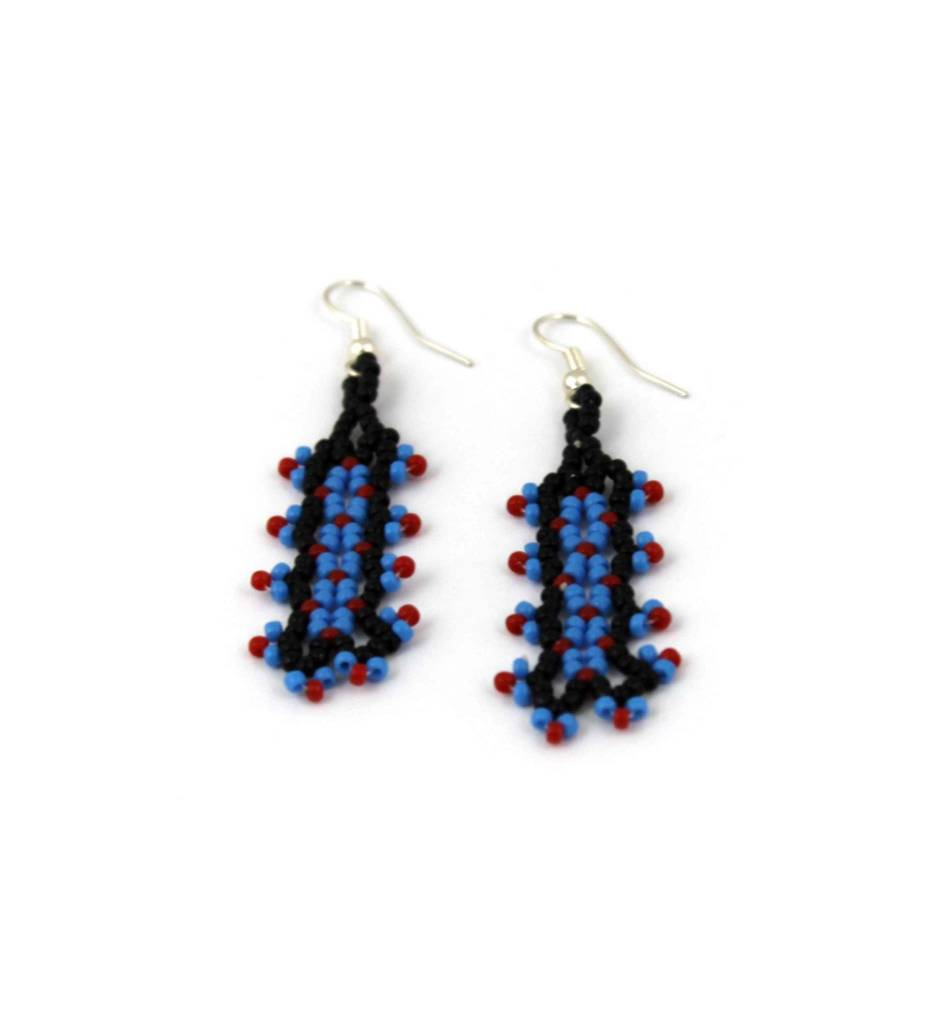 earrings com beaded pinkpowder short jewellery lapis