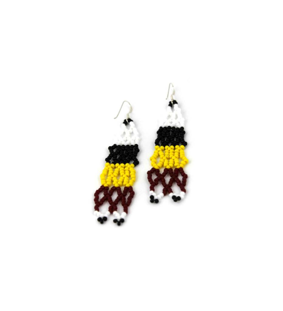"*CC ""Good Medicine"" Design Beaded Earrings"