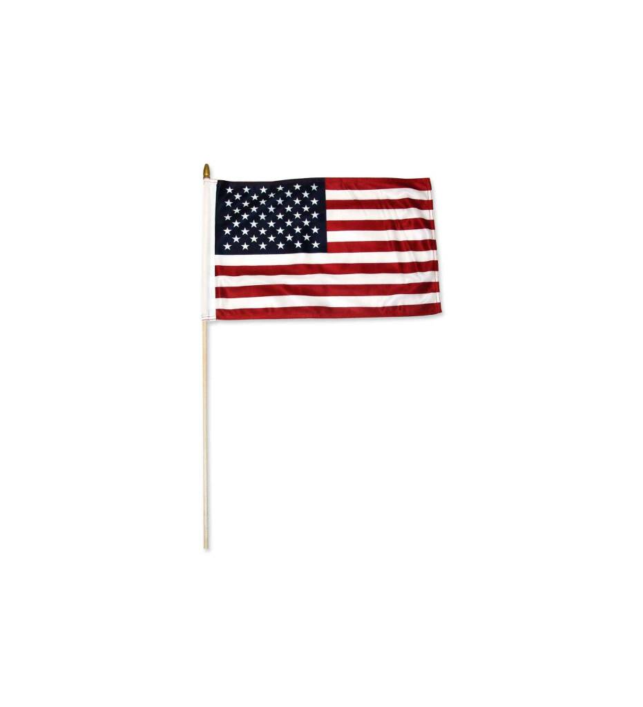 American Flag 6 in. X 9 in. On Stick