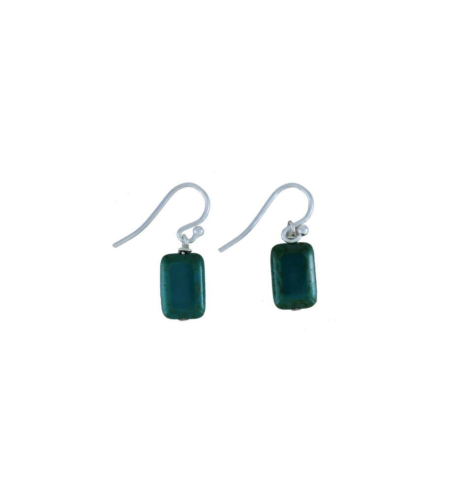 *GJ Picasso Rectangle Bead Earrings