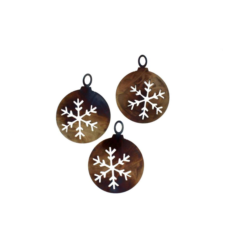 *BMW Snowflake Globes Christmas Ornament (Set of 3)