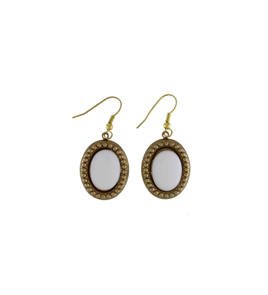 gold metal earrings semi jackets ear geometric stone marble white howlite geo theon tone triangle